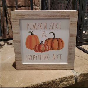 Rae Dunn Pumpkin Spice and Everything Nice sign
